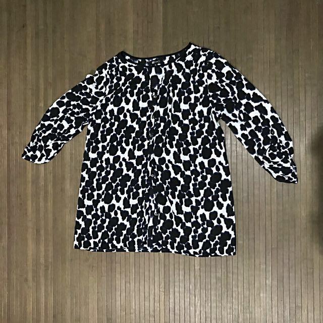 Black & Blue Leopard print MEMO blouse