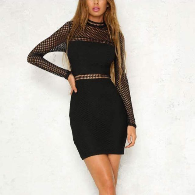 Black long sleeve dress (mini)