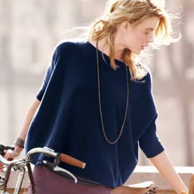 Blue Slouchy Sweater - S to L