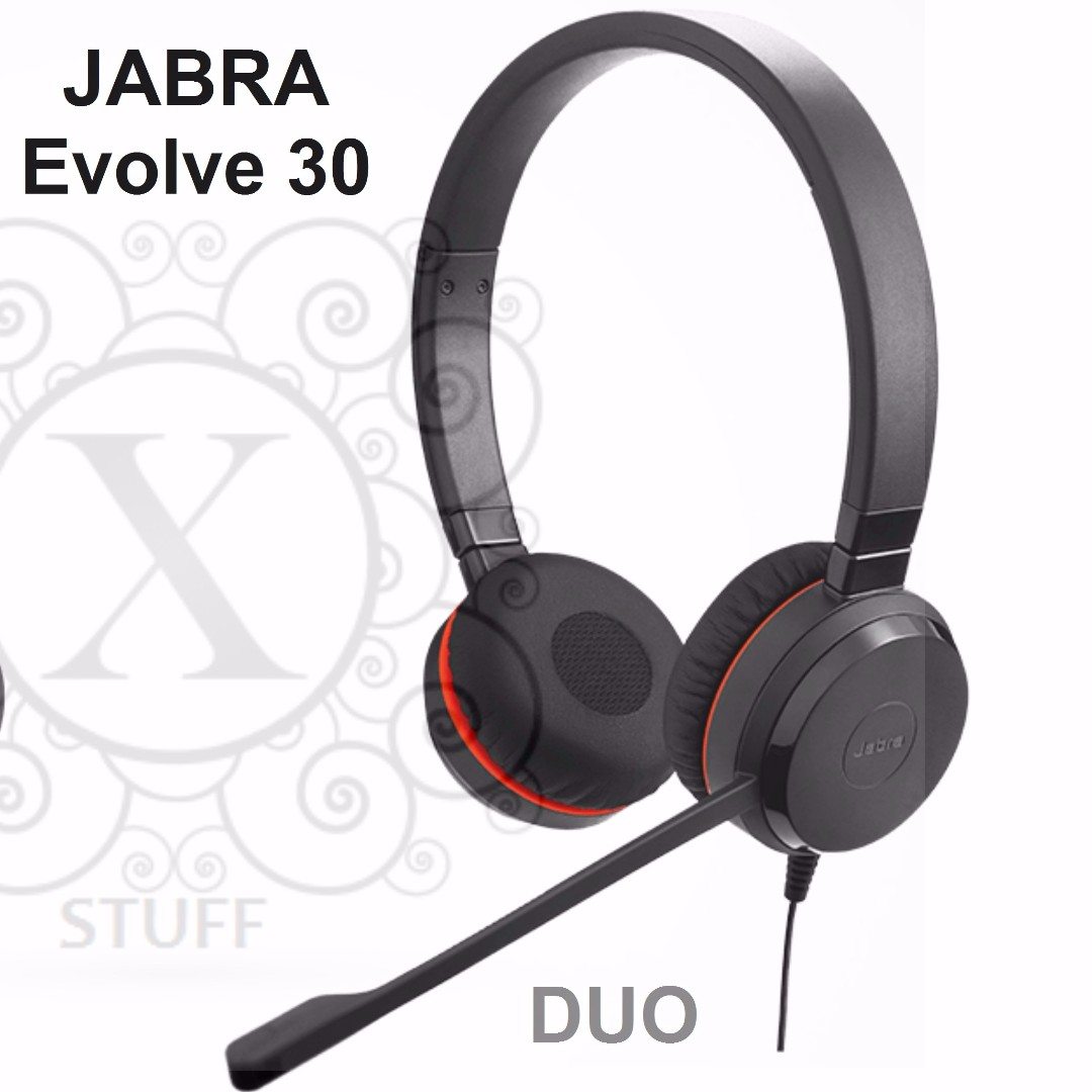 Bnew JABRA Headsets (EVOLVE Series- Evolve 30-DUO)
