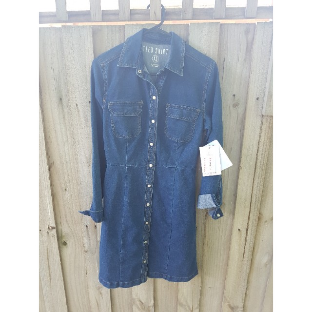 BNWT Cotton on denim dress size xs
