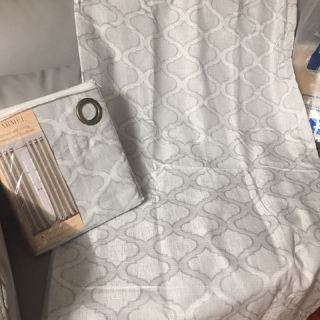 Brand New Grey Curtains -4 packs/panel