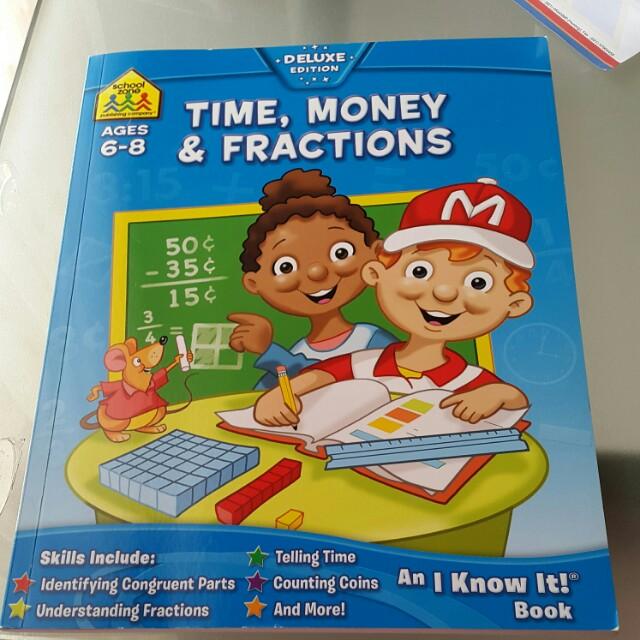 Buku latihan time money and fractions