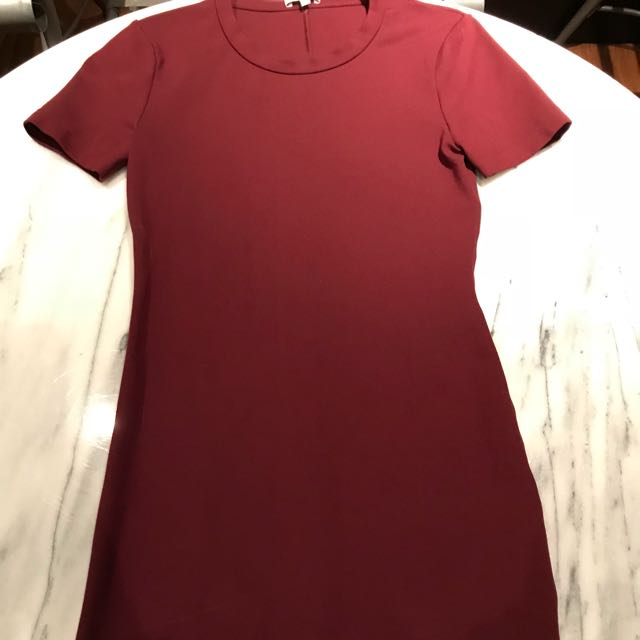 Burgundy Dress from Aritzia