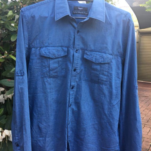 Calibre Men's denim looking shirt size XL brand new