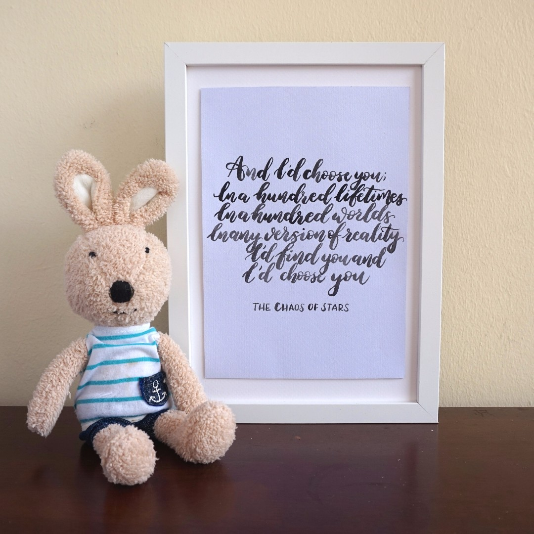 photo photo photo photo & Calligraphy quote room decor wall art anniversary gift christmas ...