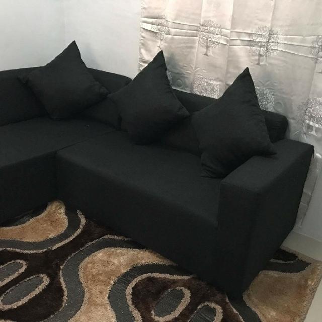class A uratex L-shaped sofa set