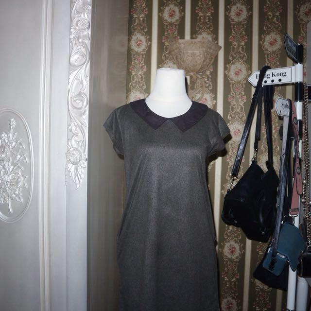 Collar dress sz xs-s