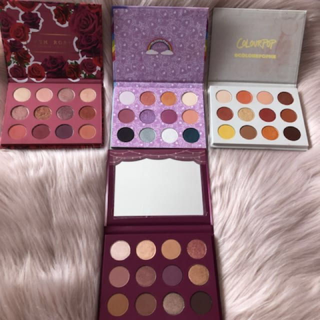 Colourpop eyeshadow palettes - Yes Please, My Little Pony, fem rosa, You had me at Hello