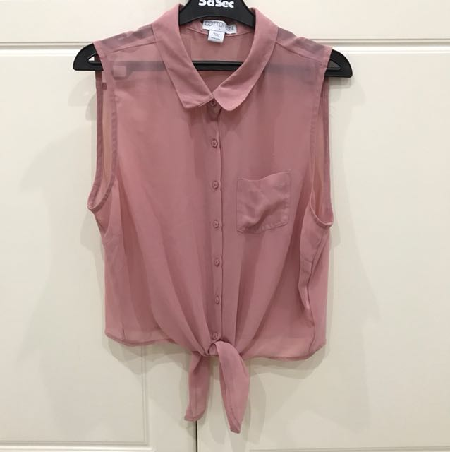 Cotton On : pink sheer top