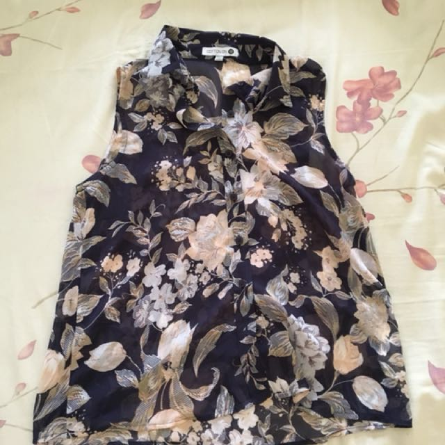 Cotton on floral shirt