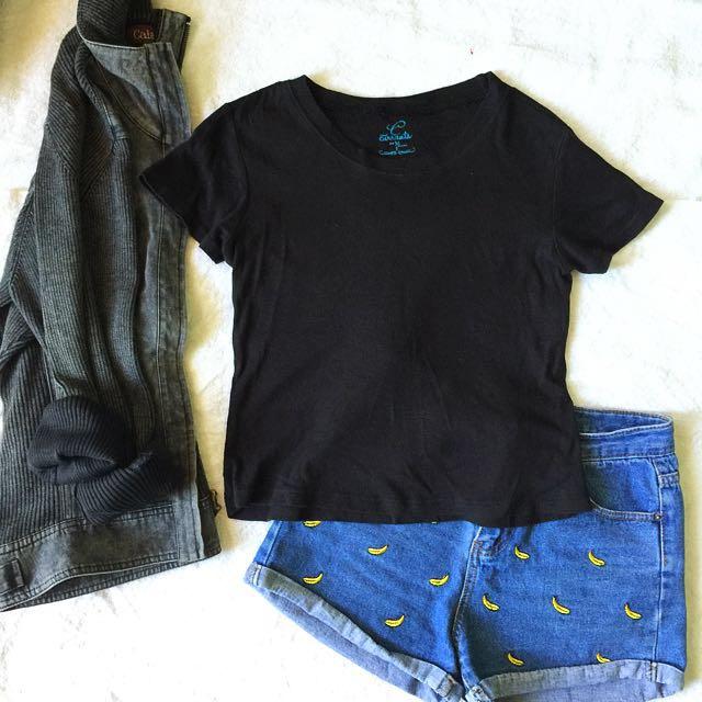 Crop Black Shirt