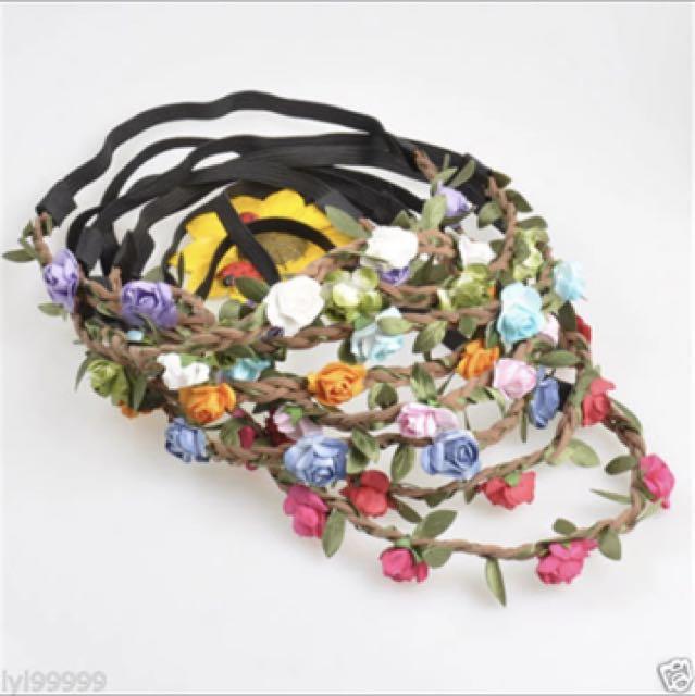 Crown flower headband bando 5pcs 1864c6c27f1