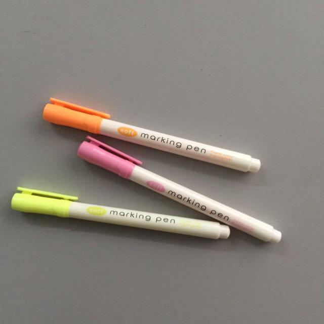 Daiso Marking Pen Highlighters