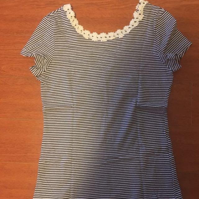 Dangerfield striped T-shirt - size 8