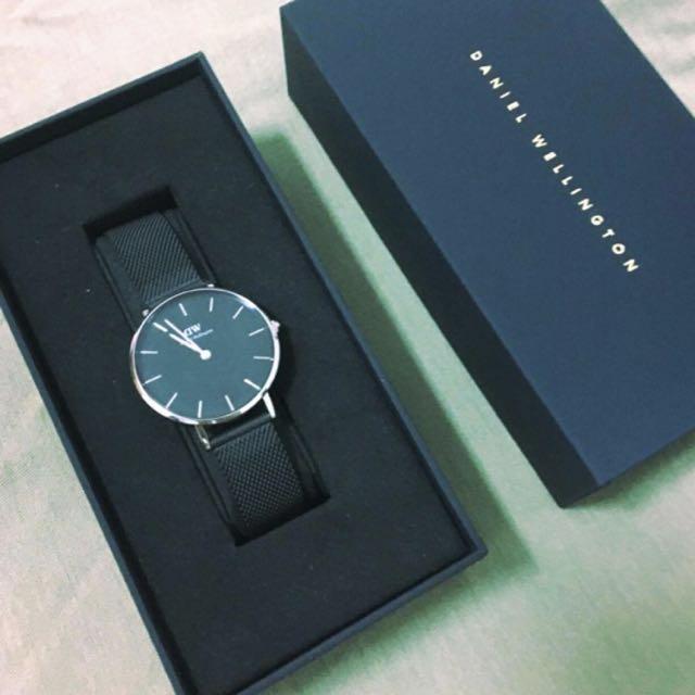 Daniel Wellington 黑色金屬手錶