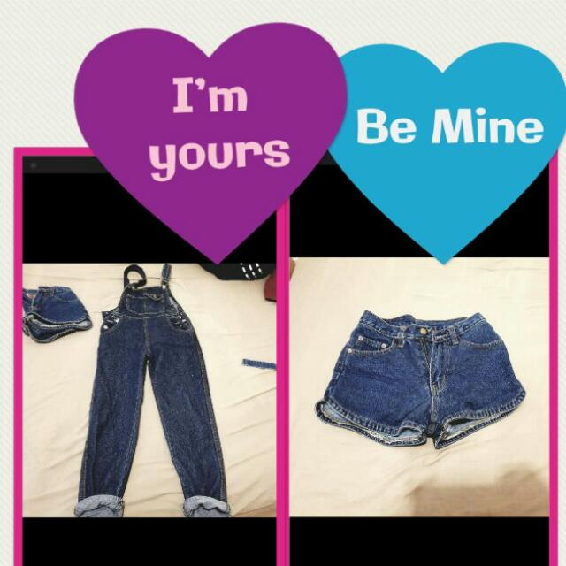 Denim Overall And Short Bundle