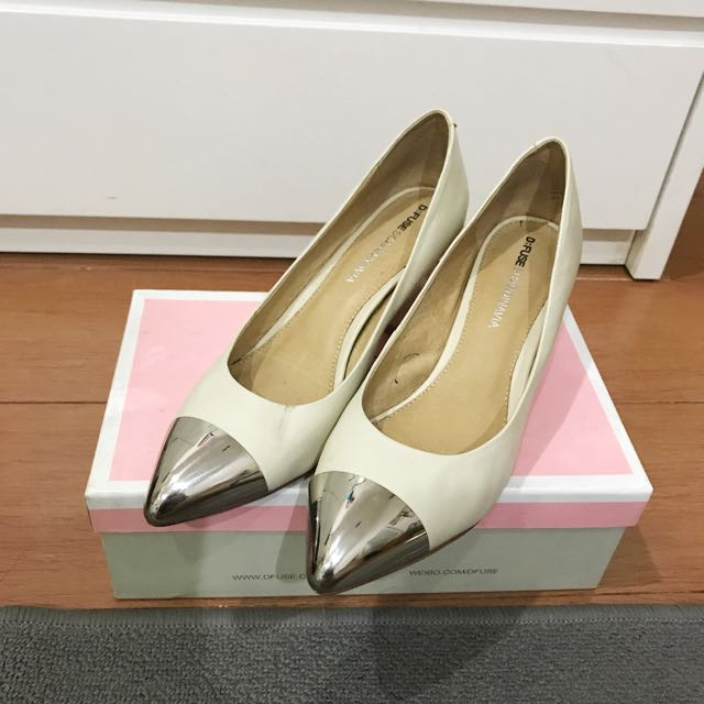 D'fuse pointed silver shoes 39