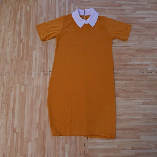 Dress neck kuning bata