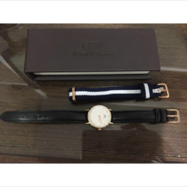 DW女錶36mm正品玫瑰金