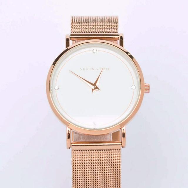 SPRINGTIDE: Lumière - rose gold mesh watch