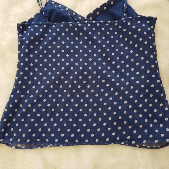 Eight by Table Eight - Dark Blue with Spots - Size 12