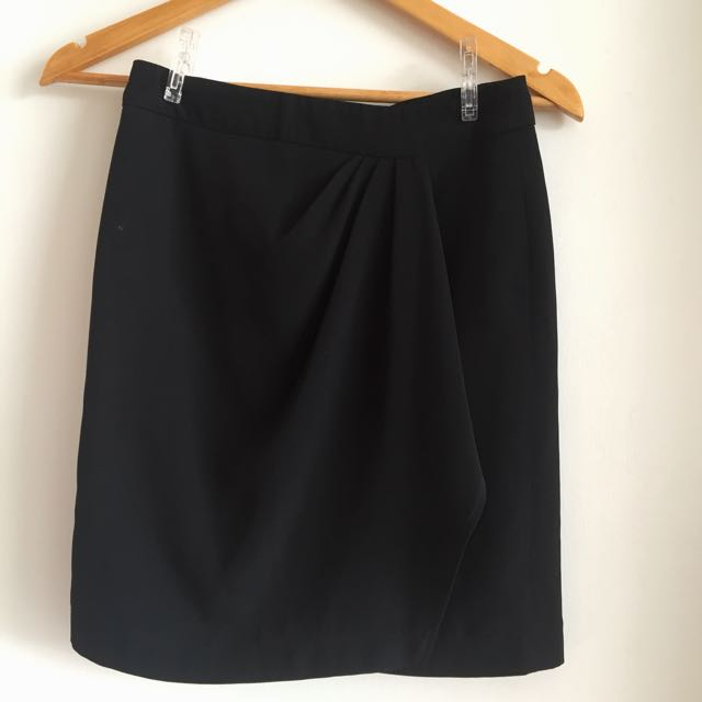 Elements Formal Wear Black Draped Skirt