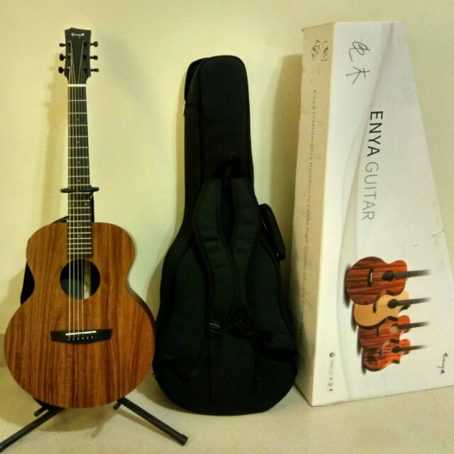 全單ENYA EM X1 HPL相思木旅行民搖吉他36吋 拾音器版本 內有影片介紹