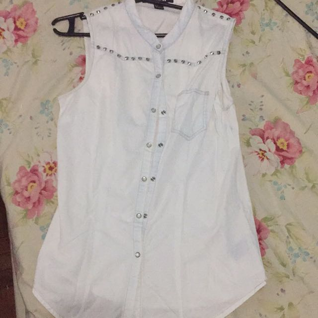 F21 Washed Studded top