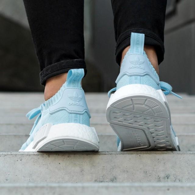 FAST!!) Adidas NMD R1 PK W Ice Blue, Women's Fashion, Shoes