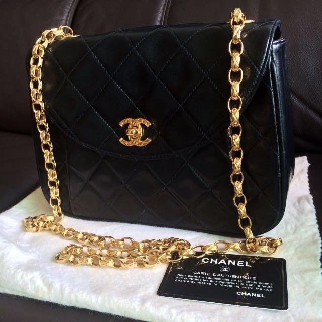 5c3d05e7fd9d FLASH SALE LIMITED TIME ⏱100% Authentic ❤Chanel Vintage Flap Lambskin Black  Bijoux Chain 24K Gold Bag Rare Unique Exquisite Timeless Classic 2.55  Medium ...