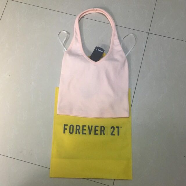 Forever 21 backless top pink