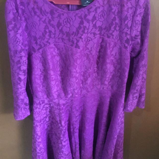 Freeway Purple Lace Dress