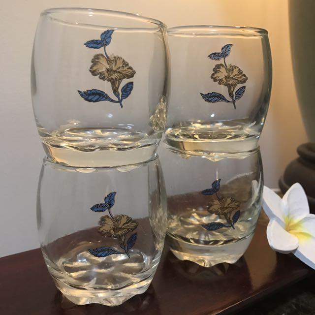 Gold foil ice tea glass mug