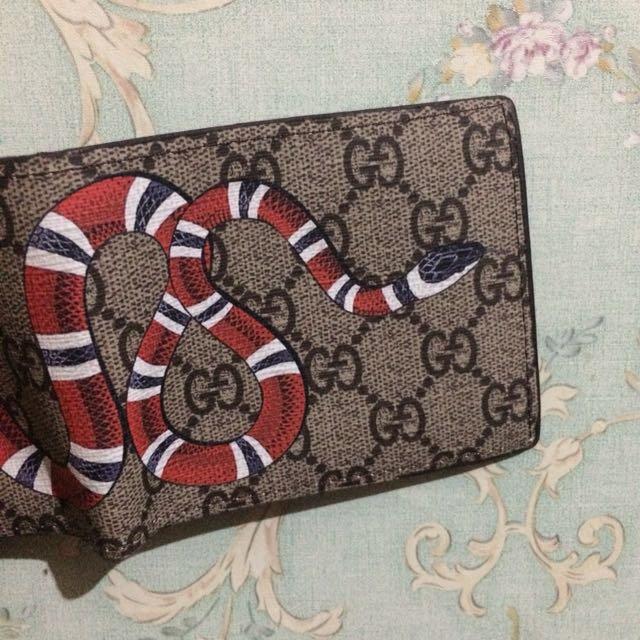 a98a559b7bb Gucci gg supreme kingsnake billfold wallet