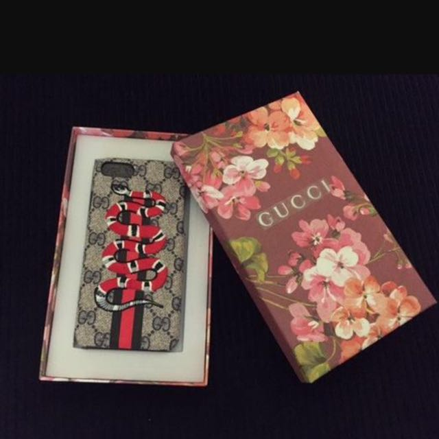 Gucci leather and Embroider mobile Case /iPhone cases