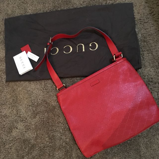 GUCCI Red Sling Bag