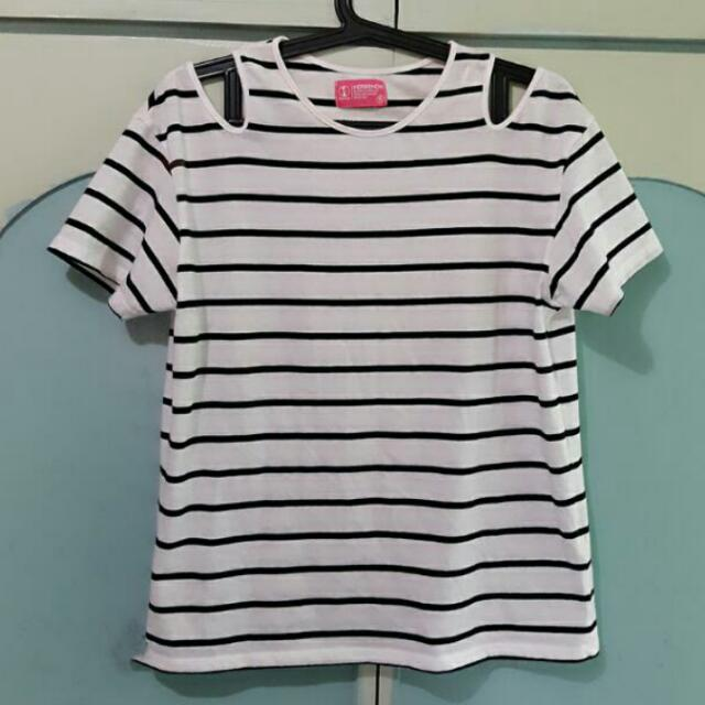 HerBench White Stripes
