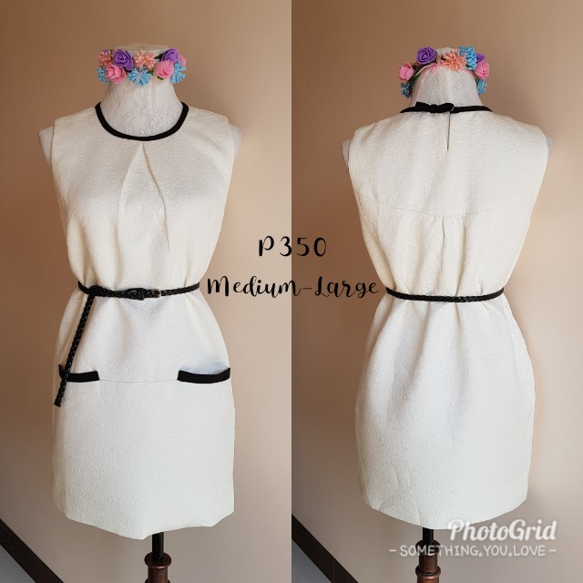 High quality textured white dress