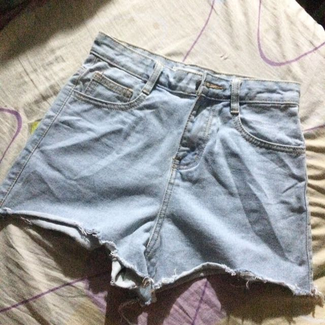 High Waist denim short