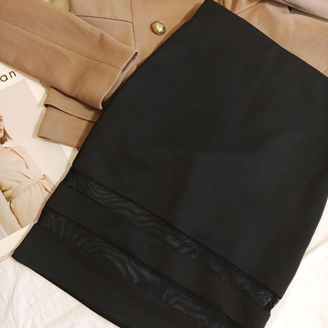 H&M腰鬆緊窄裙