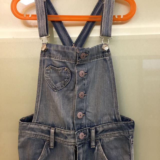 H&M單寧吊袋褲