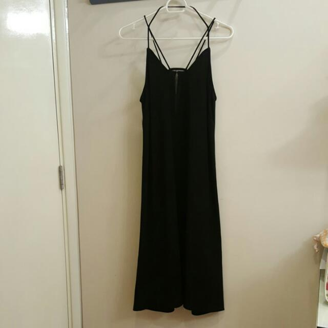 H&M Mesh V-Neck Strappy Dress