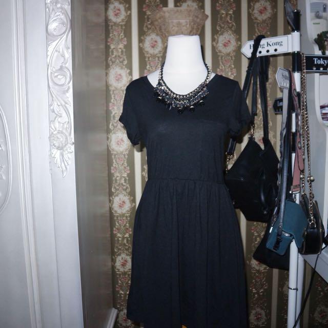 HnM black dress sz s