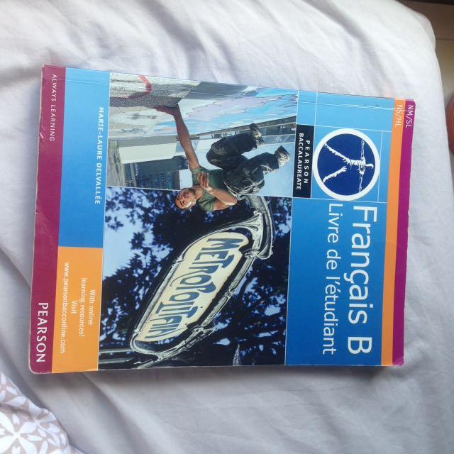 IB French textbook
