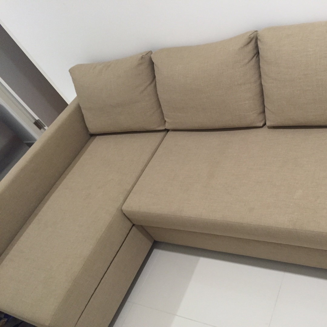 Ikea Double Sofa Bed With Chaise Longue And Storage Furniture