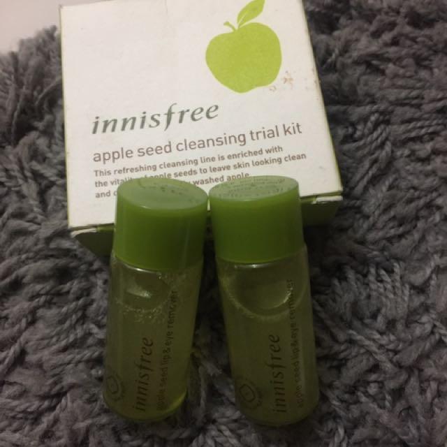 Innisfree apple seed cleansing trial kit