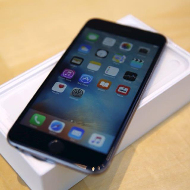 iPhone 6s Plus 5.5吋 64g 太空銀 過保 i6外觀新台南可面交非iPad Samsung i8 ix保護殼