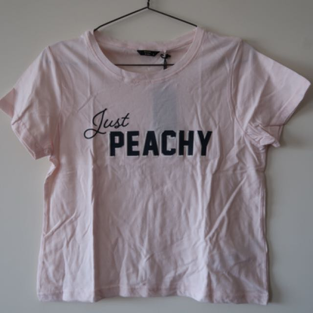 Just Peachy Crop Tee