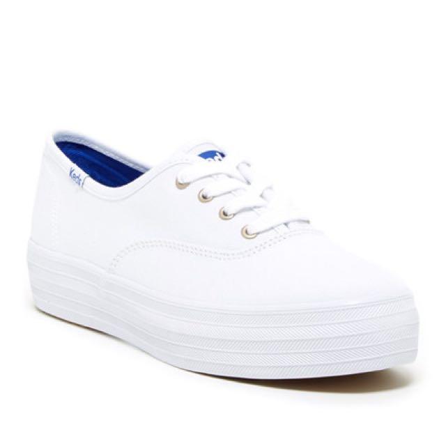 32e6cf03440 Keds Triple White Platform Shoes